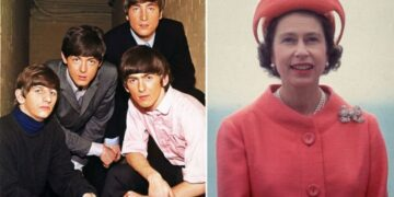 The Queen's fabulous Beatles connection can be seen every time she appears in public