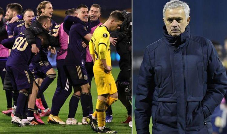 Jose Mourinho 'more than sad' as Tottenham boss blasts stars over sorry Europa League exit