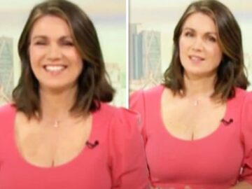 Susanna Reid causes stir in tight low-cut dress as she sends GMB viewers into a frenzy