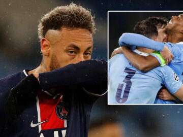 Neymar fails to score for a seventh Champions League knockout game as PSG crash out – and fans claim his next could be with Messi